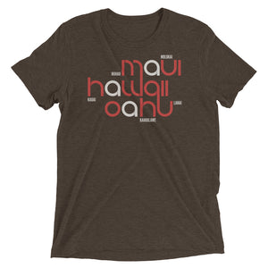 Hawaii State Flow Tri-Blend Tee