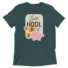 Load image into Gallery viewer, Just HODL It Tri-Blend Tee