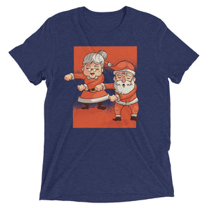 Flossing Mr. and Mrs. Santa Claus Tri-Blend Tee