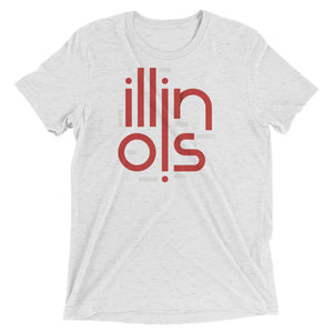 Illinois State Flow Tri-Blend Tee
