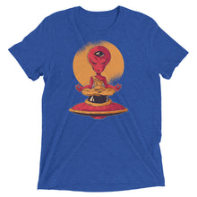 Load image into Gallery viewer, Meditating Alien Tri-Blend Tee