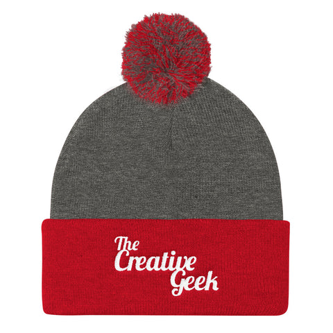 The Creative Geek Pom Pom Knit Cap