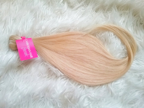 Cambodian Platinum Blonde Hair Extensions - CambodianHair Freak LLC