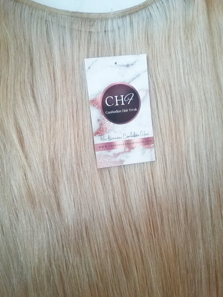 Cambodian Ash Blonde Hair Extensions - CambodianHair Freak LLC