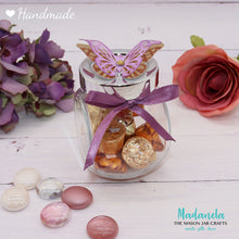 Load image into Gallery viewer, Jars with lid - Butterfly Party Favors, Weddings Favors, Sweet Sixteen, Quinceanera, Baby Shower