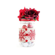 Load image into Gallery viewer, MASON JAR DECORATED WITH FLOWERS AND RIBBON - WEDDINGS, BABY SHOWER, HOLIDAYS GIFT
