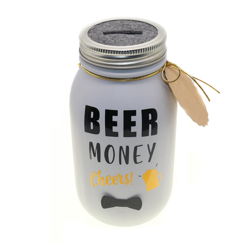 Mason Jar 32-Ounce, Money Jar, Coin Jar, Piggy Bank, Father's Day Gift