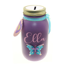 Load image into Gallery viewer, Adult Money Jar, Girls Piggy Bank, Coin Jar, Personalized Name