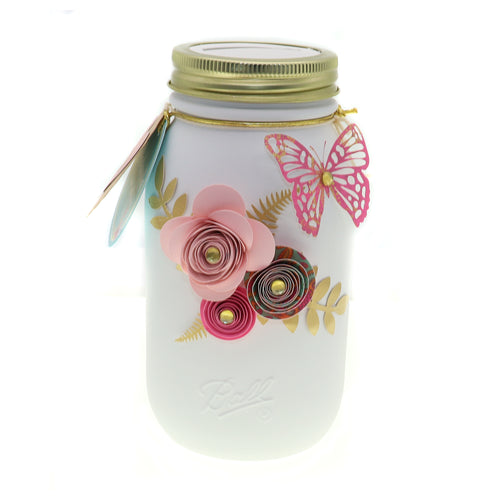 Mason Jar 32-Ounce, Money Jar, Girls Just Wanna Have Funds, Pink & Purple