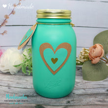 Load image into Gallery viewer, Mason Jar 32-Ounce, Money Jar, Girls Just Wanna Have Funds, Teal