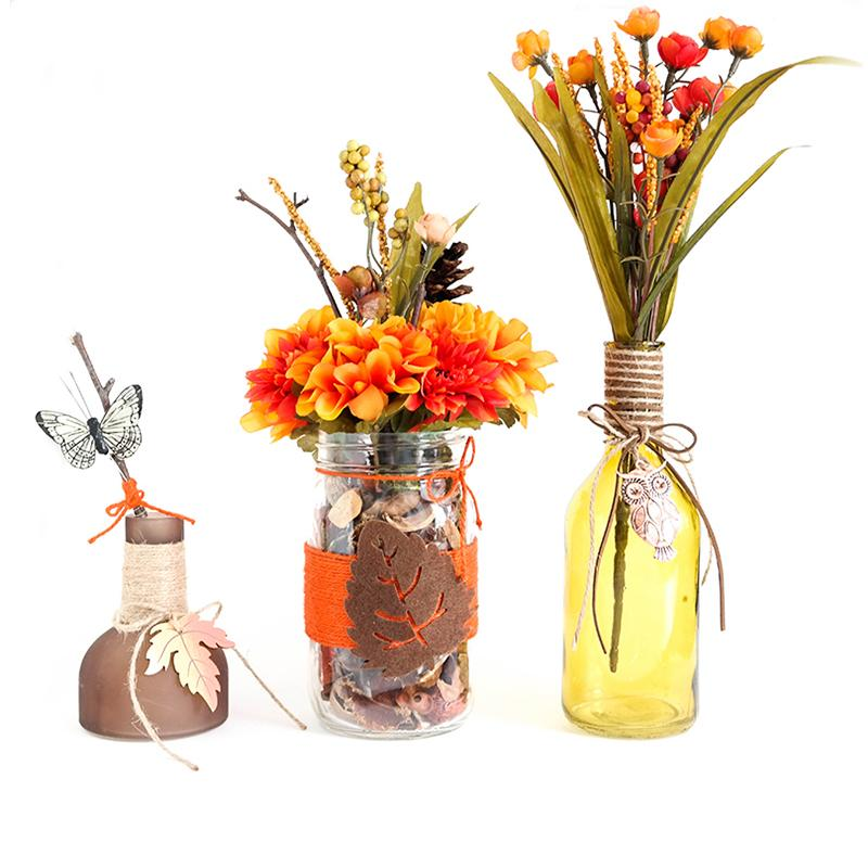 Mason Jar Set - Fall Center Pieces, Home Decor For The Holidays, Gift Idea, Hand Made