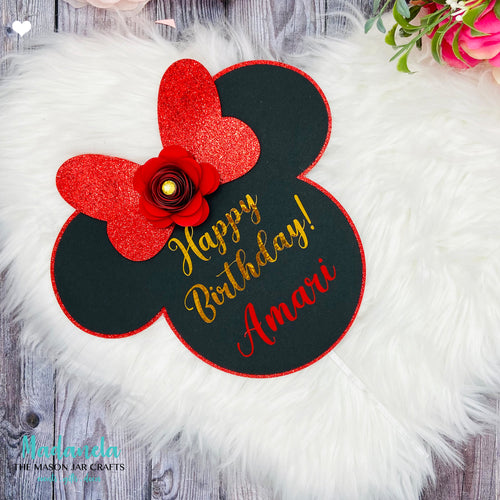 Personalized Birthday Cake Topper Minnie Mouse