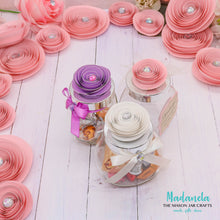 Load image into Gallery viewer, 3D Spiral Paper flower Decorations, Weddings, Baby Shower, Nursery Decor, 30 Flowers included.