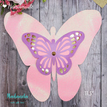 Load image into Gallery viewer, Paper Butterflies Cut Outs, Beautiful Pink/Purple Set For Decorations, Backdrop, Baby Shower - 58pcs