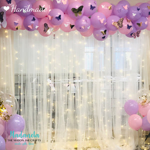 Paper Butterflies Cut Outs, Beautiful Pink/Purple Set For Decorations, Backdrop, Baby Shower - 58pcs