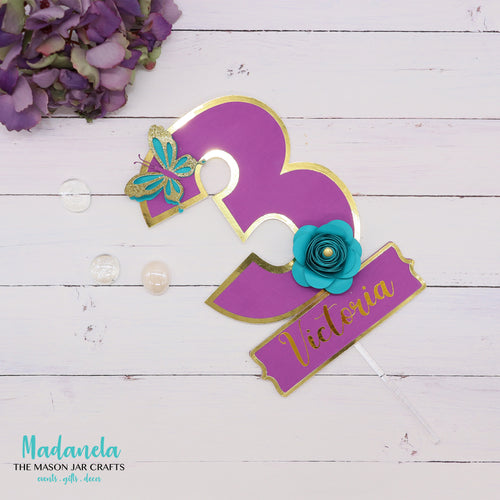 Personalized Birthday Cake Topper Number For Cake Decoration