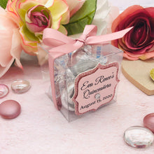 Load image into Gallery viewer, Clear Party Favor Box For Baby Shower, Weddings, Quinceanera, Sweet Sixteen Souvenir 12 Boxes