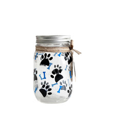 Load image into Gallery viewer, Decorated Mason Jar For Pet's Treats Dogs/Cats Paw-Bones