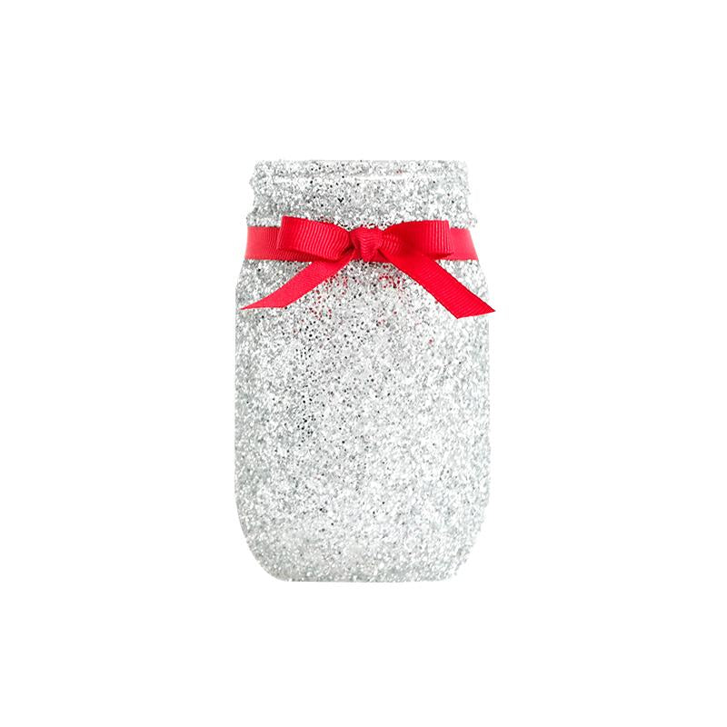 Mason Jars - Glitter Decorated Jars - Center Piece, Weddings, Sweet Sixteen, Quinceanera