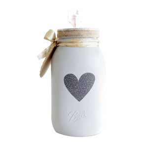 Mason Jar Decorated Distress Painted Tissue Holder Handmade