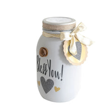 Load image into Gallery viewer, Mason Jar Decorated Distress Painted Tissue Holder Handmade