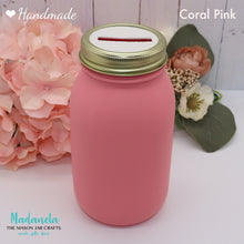 Load image into Gallery viewer, Adult Piggy Bank, Make Your Own Money Jar, Girls Coin Jar, Mason Jar Bank