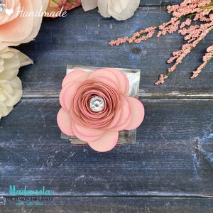 paper rose flower clear party favor box from madanela