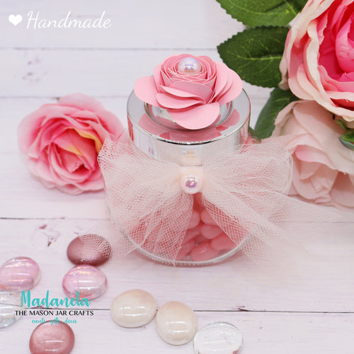 Jars with lid - Party Favors, Sweet Sixteen, Quinceanera, Baby Shower-12 Jars