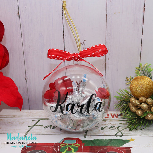 Holiday/Christmas Gift Personalized Ornament Ball Add Your Name