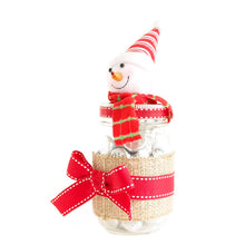 Load image into Gallery viewer, Mason Jar Handmade Decorated - Snow-man-Red-With Chocolate