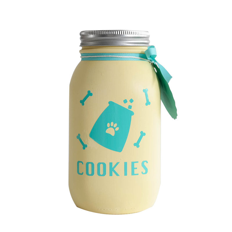 Decorated Mason Jar For Pet's Treats Dogs/Cats