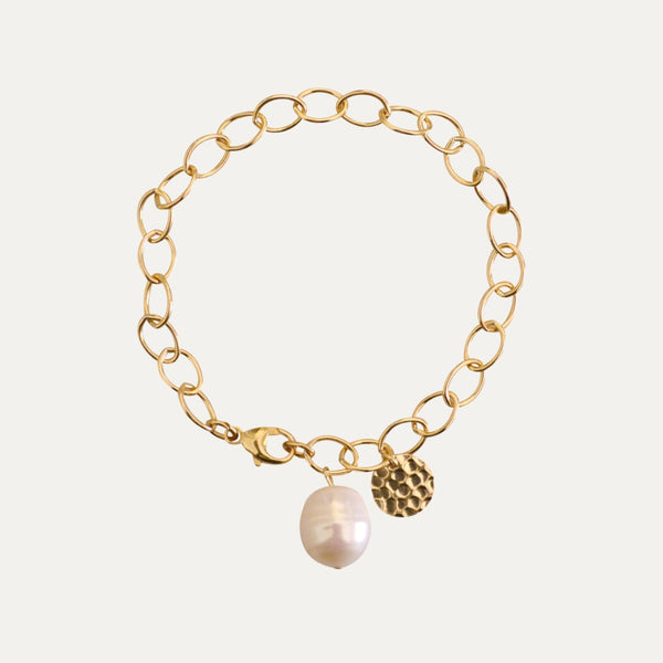 Gold Pearl Drop Bracelet | Monform Jewellery