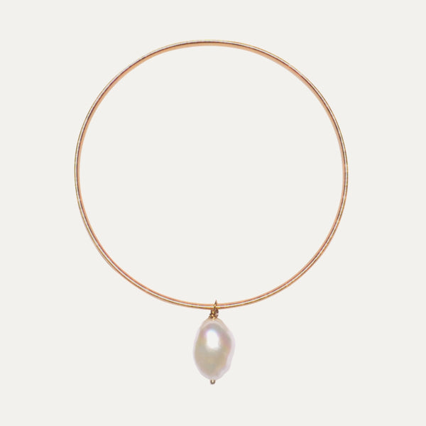 Gold pearl bangle | Monform Jewellery