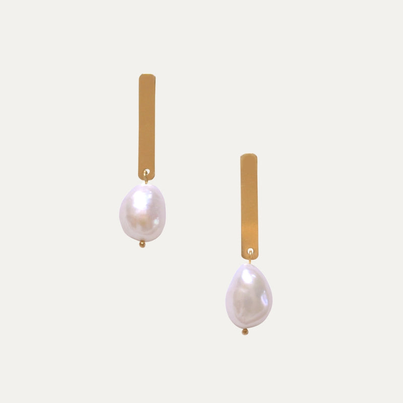 Gold Pearl Earring | Monform Jewellery