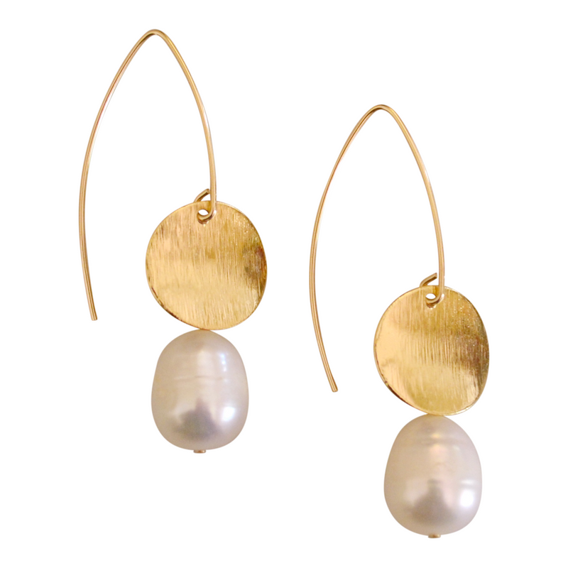 Freshwater Gold Pearl Earring | MONFORM by Jomay Cao
