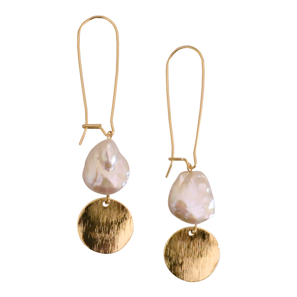 Bennet Pearl Earring MONFORM by Jomay Cao 14 karat gold filled