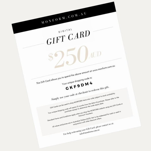 Monform Gift Card