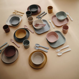 Plato cuadrado Blush, Set de 2