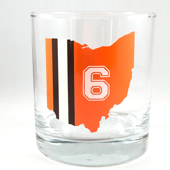 Personalized Cleveland Browns Glass