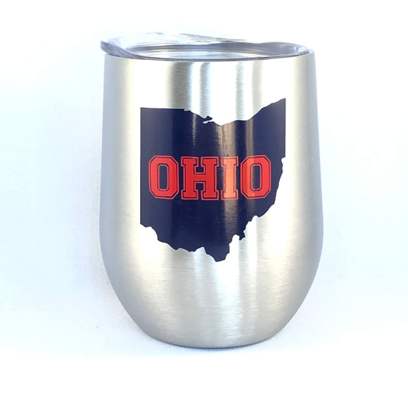 Ohio Wine/Ohio Gift Ideas/Ohio Wine Glass/Ohio State/Ohio Sports Fan