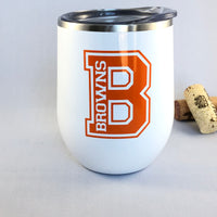 Cleveland Browns Wine Tumbler/Cleveland Browns Gift Idea/Browns Fan/Cleveland Gift