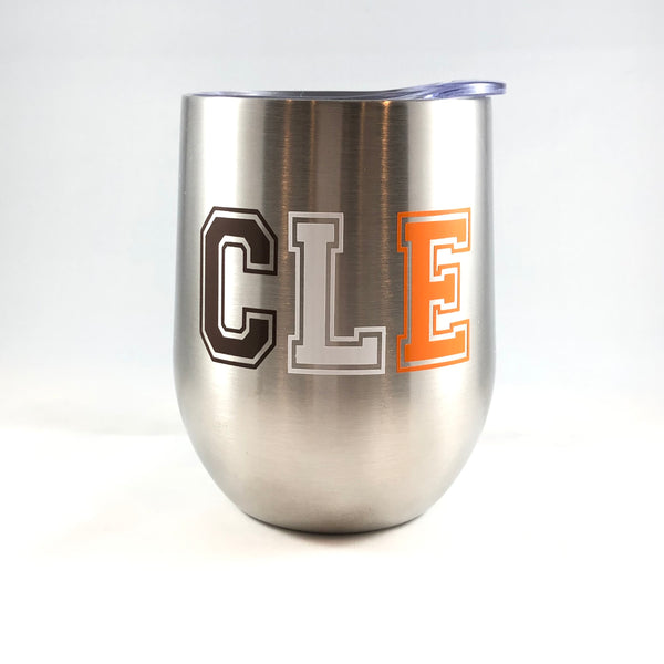 Cleveland Browns CLE Wine Tumbler