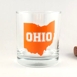 Ohio Glass/Ohio Gift/Cleveland Browns/Cleveland Sports Fan/Gift for Dad/Browns Glass