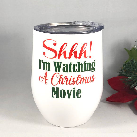 Watching a Christmas Movie Tumbler