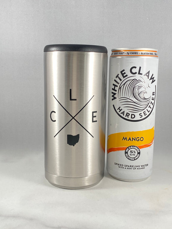 CLE X Skinny Can Cooler