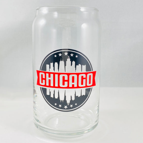 Chicago Circle Tall Glass