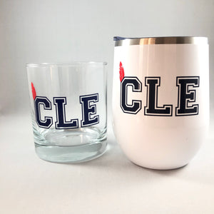 CLE Cleveland Indians Tumbler/Indians Glass/Cleveland Indians Gifts
