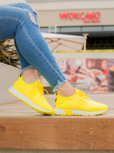 Neon yellow Women's Sneakers