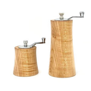 "3"" & 6"" Curly Maple Combo Salt and Pepper Grinder Set"