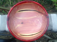 Load image into Gallery viewer, Eastern Red Cedar Bowl with Red Resin Accents